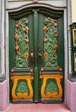 Nordhausen colorful door in Thuringia Germany. Nordhausen colorful green door in Thuringia of Germany stock images