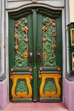 Nordhausen färgrik dörr i den Thüringen Tyskland arkivbilder