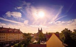 Nordhausen linia horyzontu w Harz Thuringia Fotografia Royalty Free