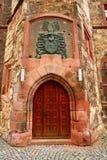 Nordhausen Rathaus dörr i den Harz Thüringen Tyskland royaltyfri bild