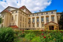 Nordhausen teater och trädgård i den Harz Tyskland royaltyfri foto