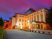 Nordhausen teatr przy nocą w Thuringia Niemcy Obrazy Royalty Free