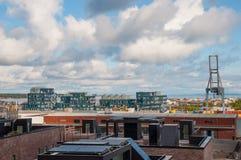 Nordhavn område i Köpenhamnen Danmark Arkivfoto