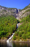 Nordheimsdalen Waterfall stock image