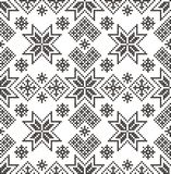 Nordic background. Vector seamless pattern. Fabric. Geometric design Royalty Free Stock Images
