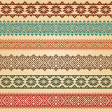 Nordic border decoration elements. Border decoration elements patterns in different colors. Most popular ethnic border in one mega pack set collections. Vector Royalty Free Stock Photography