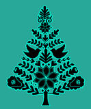 Nordic Christmas Tree Royalty Free Stock Images