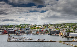 The nordic city of Tromsø. The city of Tromsø in the north of Norway Stock Images