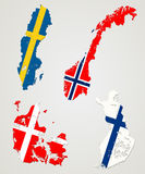 Nordic countries stock illustration