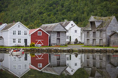 Nordic Fishing Houses Royalty Free Stock Photo