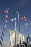 NORDIC FLAGS HOTEL SKYBELLA AND CONGRESSS CENTER Stock Image