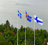 Nordic flags. Royalty Free Stock Image