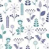 Nordic floral illustration stock