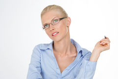 Nordic girl judging Royalty Free Stock Images