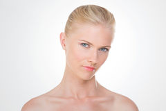Nordic girl with sensual look Royalty Free Stock Photography