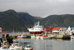 Nordic Harbour. Honningsvåg Harbour at North Cape (Norway Stock Image