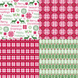 Nordic Holiday Patterns Royalty Free Stock Image