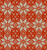 Nordic knitted perfect seamless pattern. EPS 10 vector Stock Images