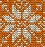 Nordic knitted perfect seamless pattern. EPS 10 vector Royalty Free Stock Photo