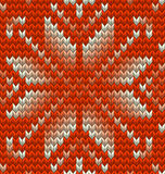 Nordic knitted perfect seamless pattern. EPS 10 vector Stock Image