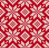 Nordic knitted seamless pattern Royalty Free Stock Photos