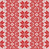 Nordic knitted seamless pattern. Vector christmas background. Colorful, decoration. royalty free stock image