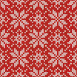 Nordic knitted seamless pattern Royalty Free Stock Photography