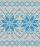 Nordic Knitted texture blue on white Seamless Pattern. EPS 10 vector Stock Photos