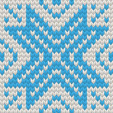 Nordic Knitted texture blue on white Seamless Pattern. EPS 10 vector Royalty Free Stock Image