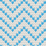 Nordic Knitted texture blue on white Seamless Pattern. EPS 10 vector Stock Photo