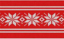 Nordic knitting pattern Royalty Free Stock Image