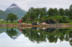 Nordic landscape. View, North Norway Stock Photos