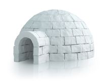 Nordic landscape with igloo. Very high resolution computerr generated Nordic landscape with igloo Royalty Free Stock Photo