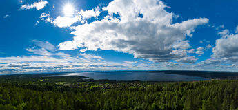 Nordic Landscape Panorama Stock Photography
