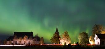 Nordic light. In Östersund in Sweden Royalty Free Stock Image