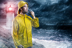 Nordic Man in the rain Royalty Free Stock Photo