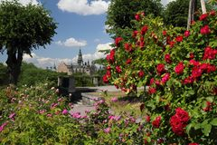 Nordic museum from a garden. A view of Nordic museum in Stockholm from a garden Royalty Free Stock Photography