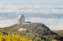Nordic optical telescope, Roque de los Muchachos Observatory in Royalty Free Stock Images