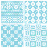 Nordic pattern. Set of snow crystal pattern.  Vector illustration Royalty Free Stock Photo