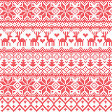 Nordic pattern. Illustrated traditional red nordic pattern Royalty Free Stock Photography