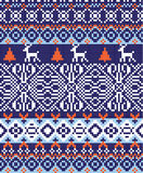 Nordic pattern background Royalty Free Stock Photography