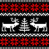 Nordic pattern on black royalty free illustration