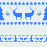 Nordic pattern with deer silhouettes. EPS 8 Royalty Free Stock Photos