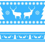 Nordic pattern with deer silhouettes. EPS 8 Royalty Free Stock Image