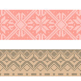 Nordic pattern. Seamless knitted background. Royalty Free Stock Images