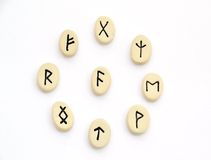 Nordic runes - circle shape Royalty Free Stock Images