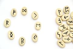 Nordic runes - circle shape Stock Images