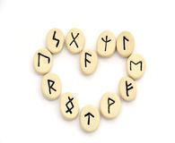 Nordic runes - heart shape Royalty Free Stock Photo