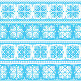 Nordic seamless christmas blue pattern Royalty Free Stock Photo