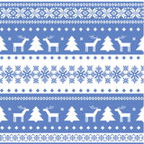 Nordic seamless christmas knitted background Stock Photos